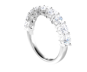 2 carat total weight diamond 14k white gold anniversary band regular prongs  Greg Discount - Talisman Collection Fine Jewelers
