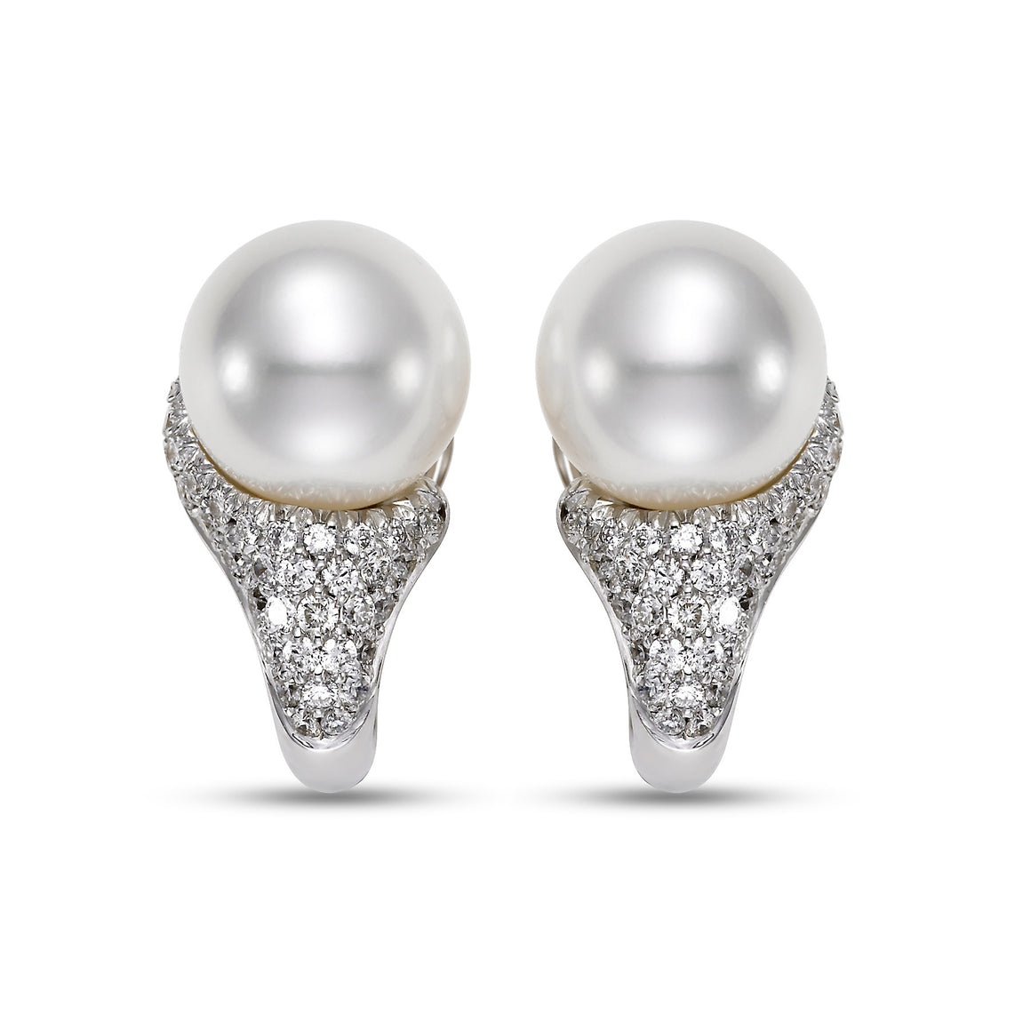 South Sea Pearl 18k Diamond Earrings by Mastoloni - Talisman Collection