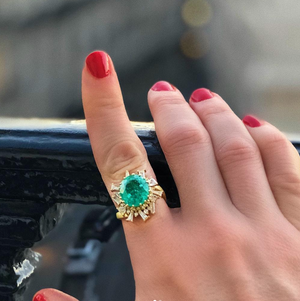 Paraiba Tourmaline and Diamond Ring by Meredith Young