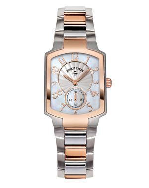 Philip Stein Rose Gold, Stainless and Mother of Pearl Classic Watch 21TRG-FW - Talisman Collection