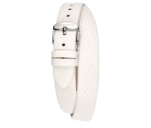 Philip Stein Pink, Cream, Black or White Lizard Double-Wrap Watch Strap - Fits Size 4 Watch Head - Talisman Collection