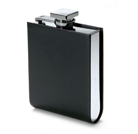 Italian Leather Hip Flask