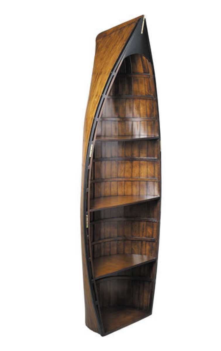 Bosun's Gig - Nautical Rowboat Bookcase - Talisman Collection