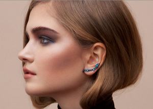 Blue Electric Lobe Earrings by Fernando Jorge - Talisman Collection Fine Jewelers