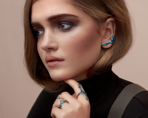 Fernando Jorge Blue Electric Shock Ring - Talisman Collection
