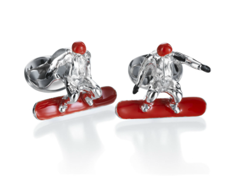 Snowboard Cufflinks by Deakin & Francis - Talisman Collection Fine Jewelers