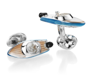 Speedboat Cufflinks by Deakin & Francis - Talisman Collection Fine Jewelers