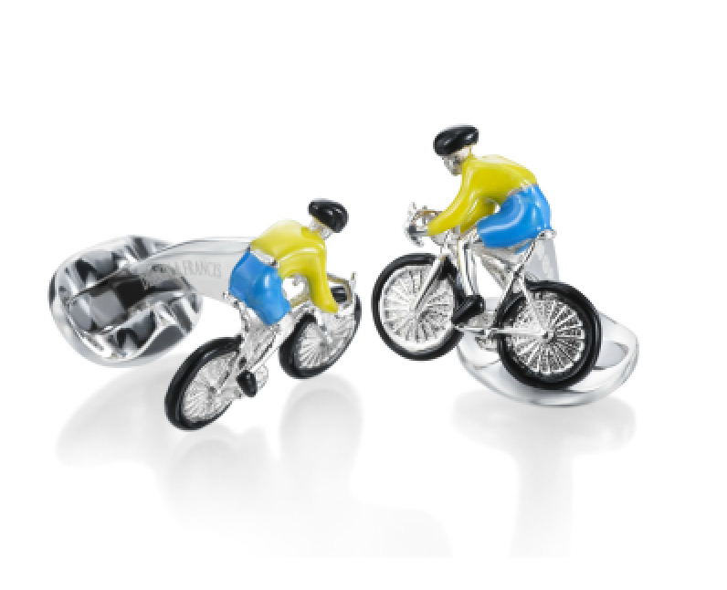Bicycle Cyclist Cufflinks by Deakin & Francis - Talisman Collection Fine Jewelers