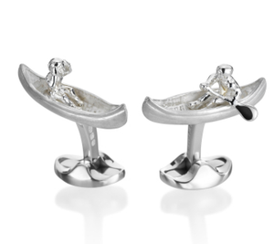 Creek Paddle Kayak Cufflinks by Deakin & Francis - Talisman Collection Fine Jewelers