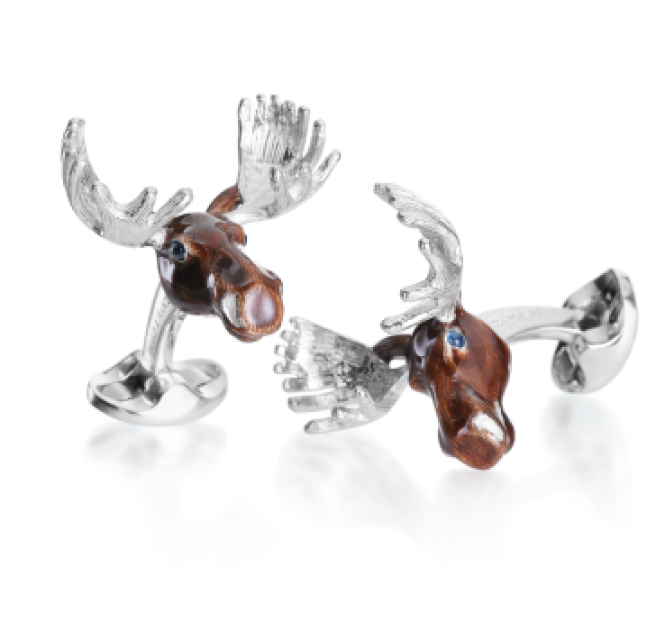 Deakin & Francis - Moose Large Game Cufflinks - Talisman Collection
