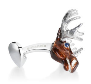 Moose Large Game Cufflinks by Deakin & Francis - Talisman Collection Fine Jewelers
