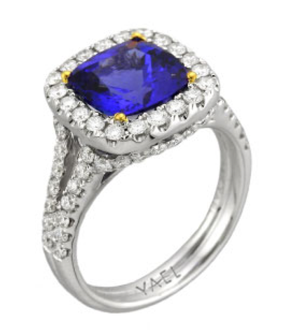 Diamond and Tanzanite Pacifica Ring by Yael