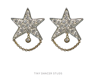 """Tiny Dancer"" Diamond Stud Earrings by Unhada - Talisman Collection Fine Jewelers"