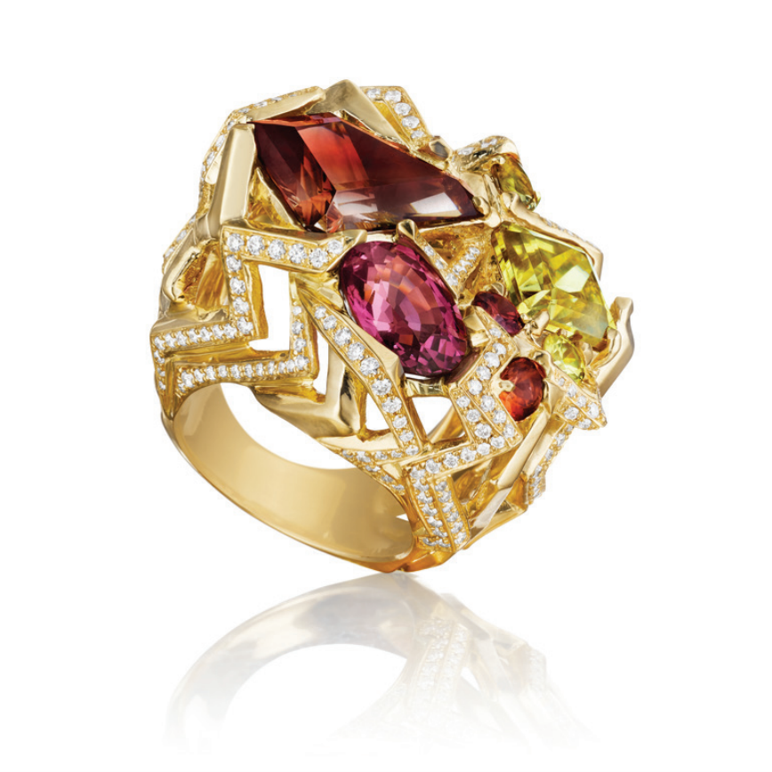 MadStone Zeus Ring in 18k Yellow Gold - Talisman Collection