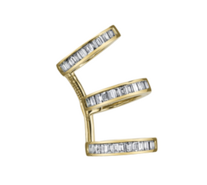 Diamond Baguette Triple Earcuff by Borgioni - Talisman Collection Fine Jewelers