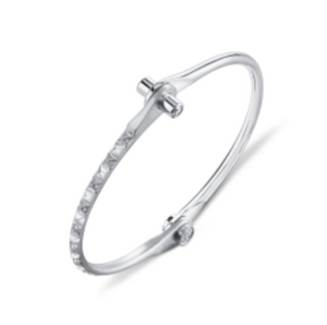 Pave Diamond Pyramid Handcuff by Borgioni - Talisman Collection Fine Jewelers