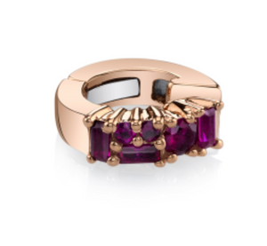 Borgioni Rose Gold Baguette & Round Ruby Ear Cuff - Talisman Collection