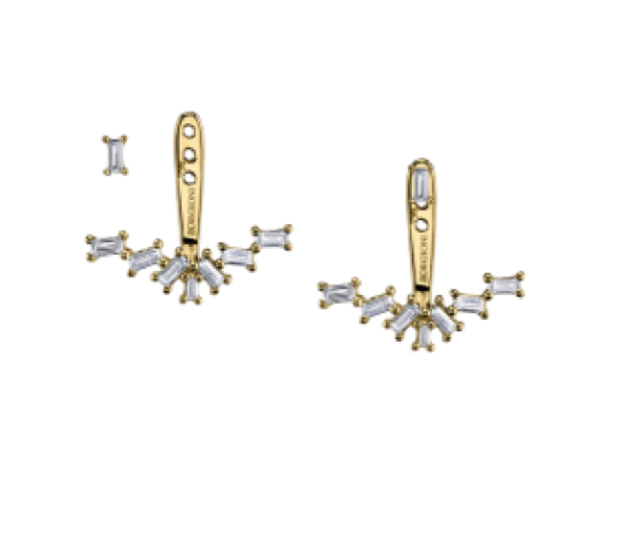 Diamond Baguette Ear Jackets by Borgioni - Talisman Collection Fine Jewelers