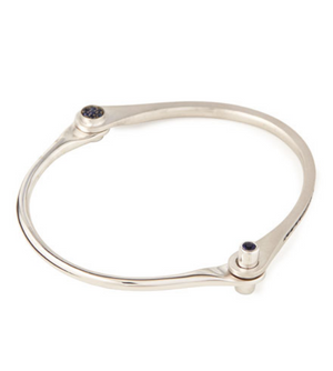 Blue Sapphire Handcuff by Borgioni - Talisman Collection Fine Jewelers
