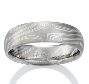 Walnut Mokume Ring by Chris Ploof - Talisman Collection Fine Jewelers