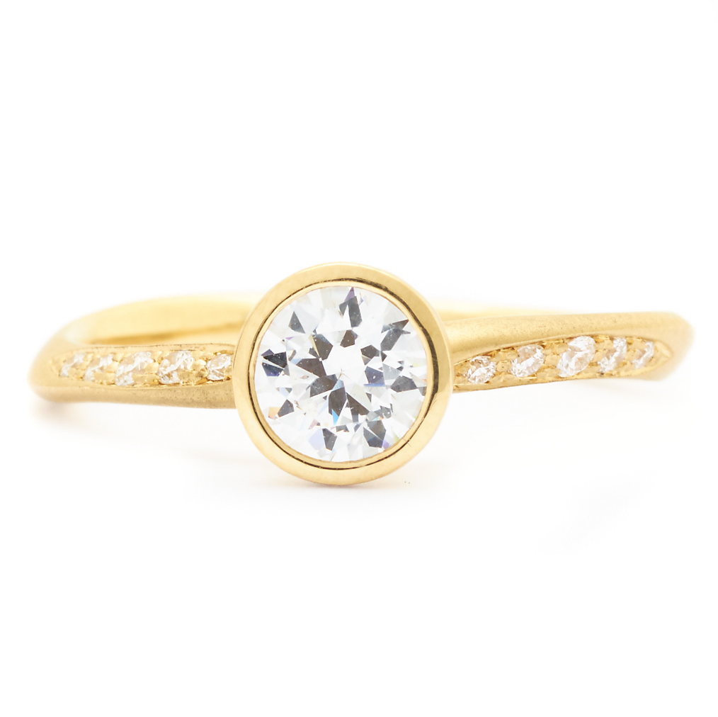 Diamond Flow Engagement Ring by Anne Sportun - Talisman Collection Fine Jewelers