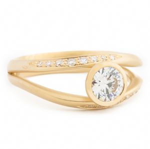 Double Flow Engagement Ring by Anne Sportun - Talisman Collection Fine Jewelers