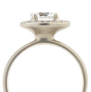 Oval Double Halo Engagement Ring by Anne Sportun - Talisman Collection Fine Jewelers