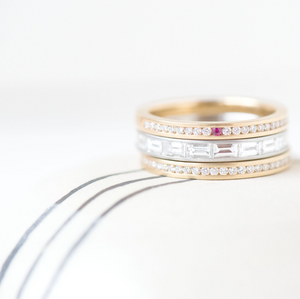 Baguette Diamond Band by Anne Sportun - Talisman Collection Fine Jewelers