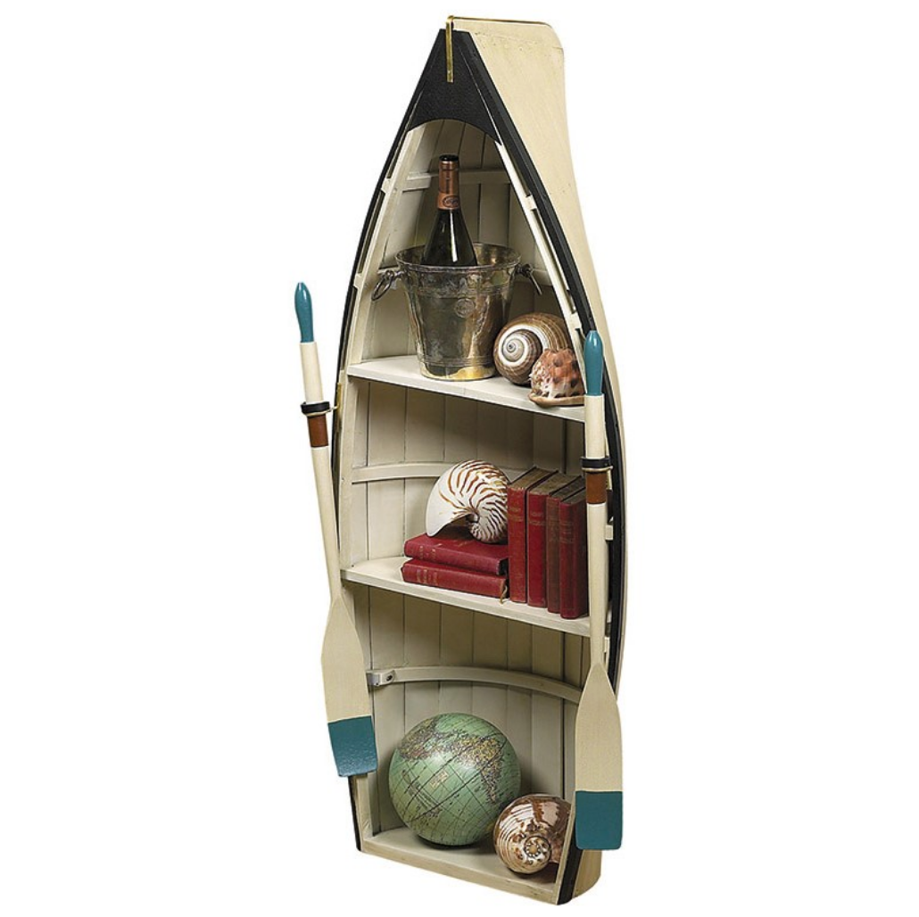 Authentic Models Dory Nautical Rowboat Bookcase/Table - Talisman Collection Fine Jewelers