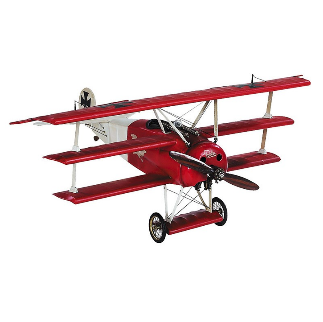 Authentic Models Fokker Triplane Desktop Model Plane - Talisman Collection Fine Jewelers