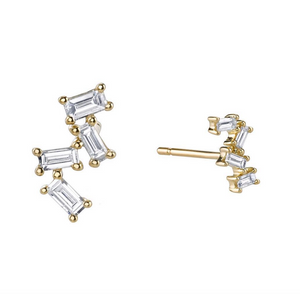 Diamond Baguette Stud Earrings by Borgioni - Talisman Collection Fine Jewelers