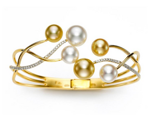 South Sea Pearl and Diamond Cuff Bracelet by Mastoloni - Talisman Collection Fine Jewelers