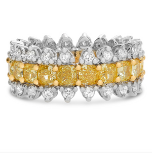 Yellow and White Diamond Royal Eternity Band - Talisman Collection Fine Jewelers