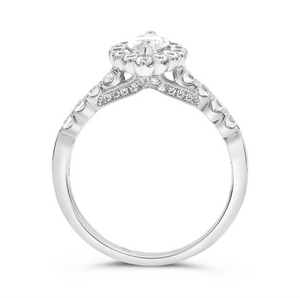 Marquise Diamond Halo Ring in White, Yellow or Rose Gold - Talisman Collection Fine Jewelers