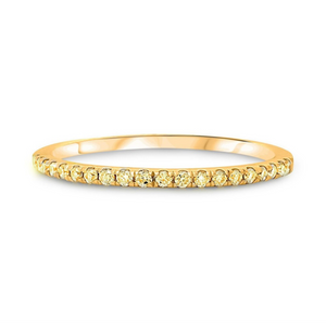 Yellow Diamond Anniversary Band - Yellow Gold - Talisman Collection Fine Jewelers