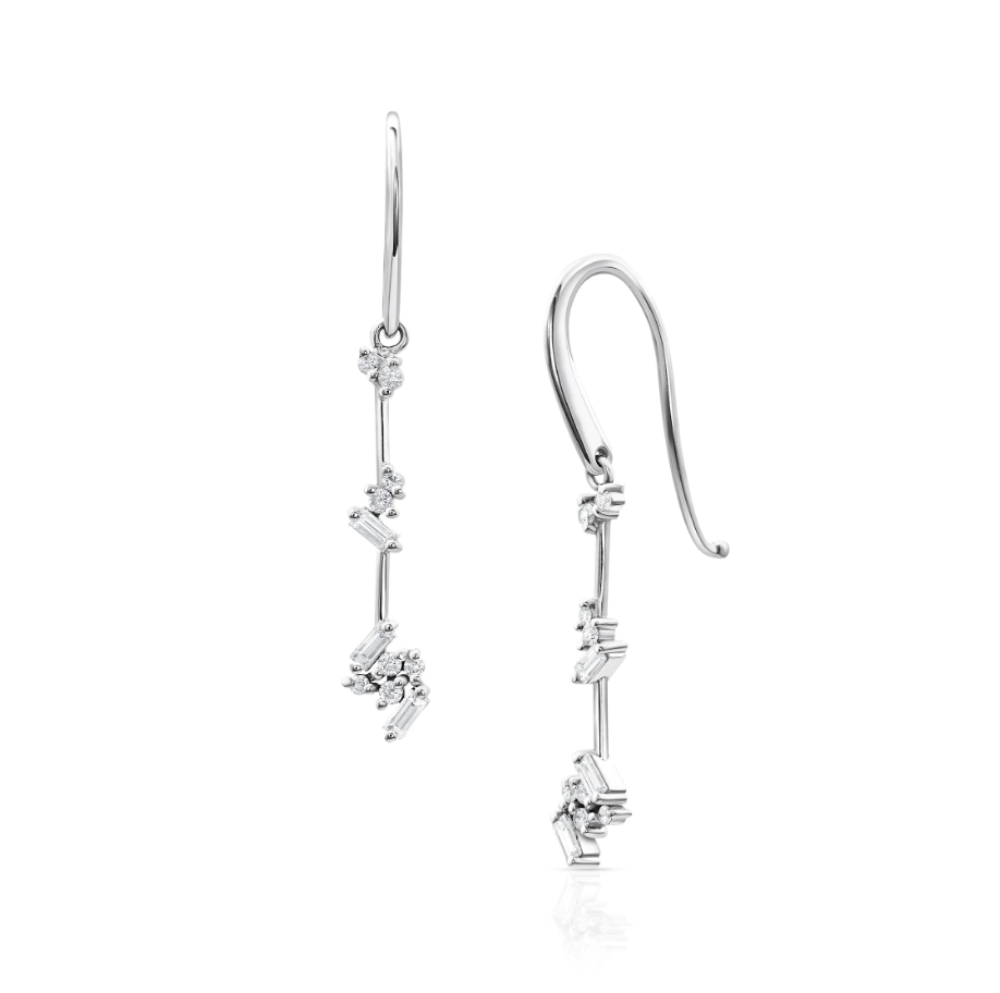 Diamond Luxe Threader Earrings by Meredith Young - Talisman Collection Fine Jewelers