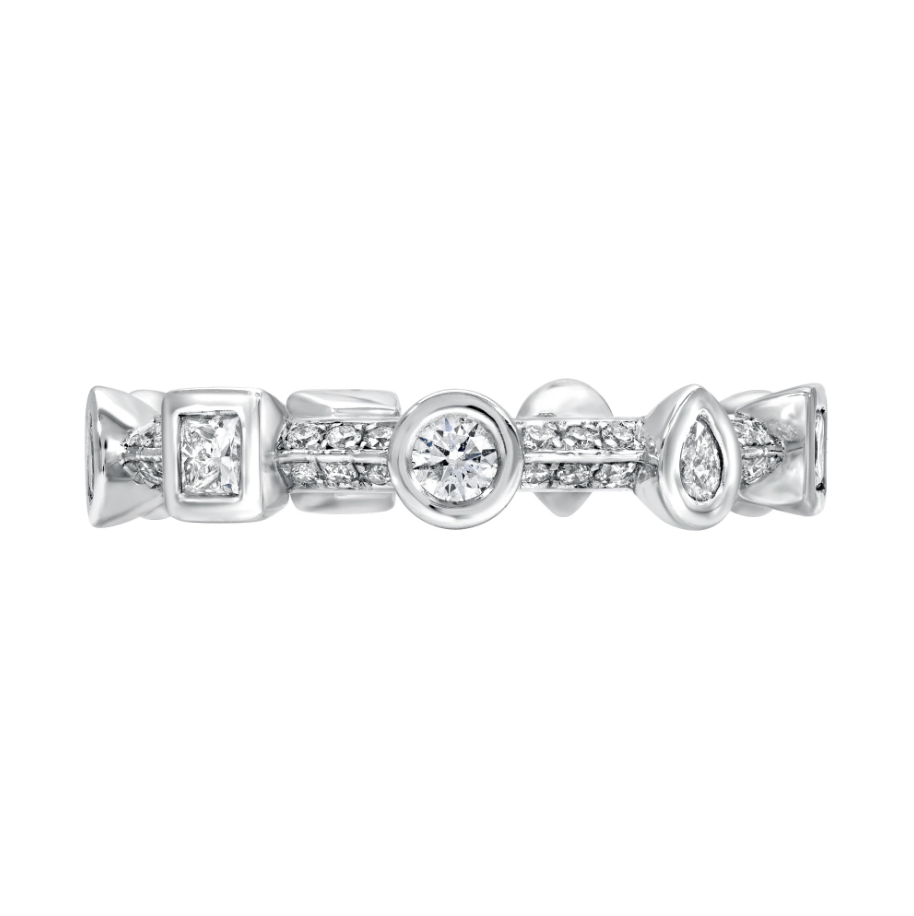 Diamond Pave Contour Multi Bezel Ring by Meredith Young - Talisman Collection Fine Jewelers