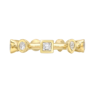 Diamond Contour Multi Bezel Ring by Meredith Young - Talisman Collection Fine Jewelers