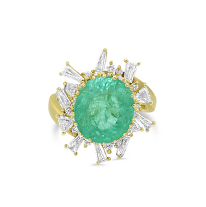 Paraiba Tourmaline and Diamond Ring by Meredith Young - Talisman Collection Fine Jewelers