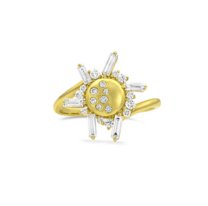 Diamond Small Eclipse Ring by Meredith Young - Talisman Collection Fine Jewelers