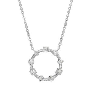 Diamond Contour Multi Bezel Necklace by Meredith Young - Talisman Collection Fine Jewelers