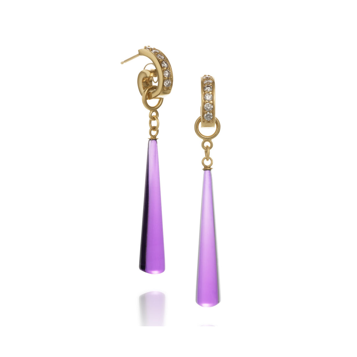 Amethyst Drop Lyra Earrings by Martha Seely - Talisman Collection Fine Jewelers