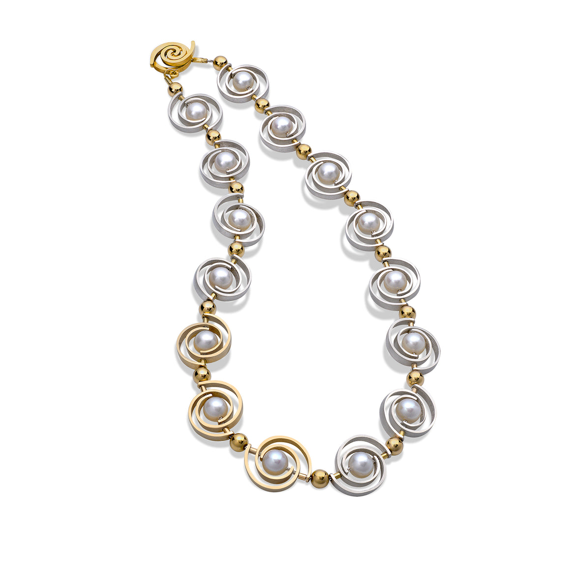 Articulating Orbit Necklace by Martha Seely - Talisman Collection Fine Jewelers