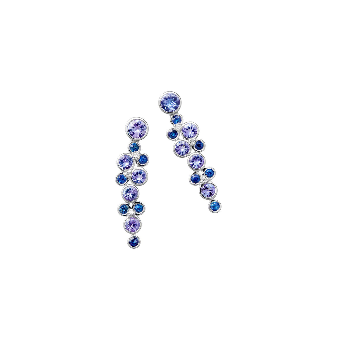 Blue Ombre Constellation Earrings by Martha Seely - Talisman Collection Fine Jewelers