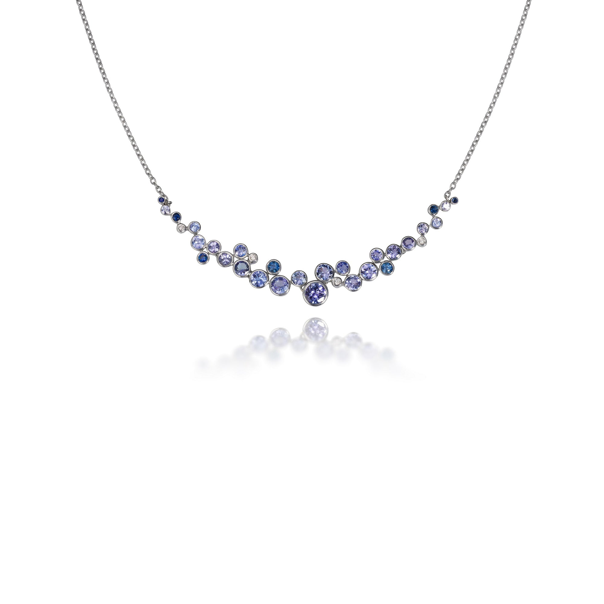 Blue Ombre Constellation Necklace by Martha Seely - Talisman Collection Fine Jewelers