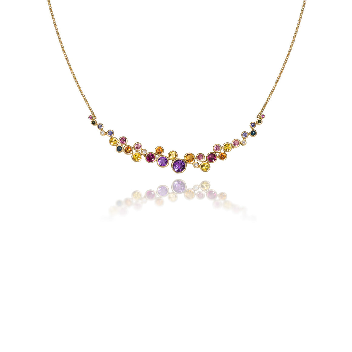 Multi-Color Constellation Necklace by Martha Seely - Talisman Collection Fine Jewelers