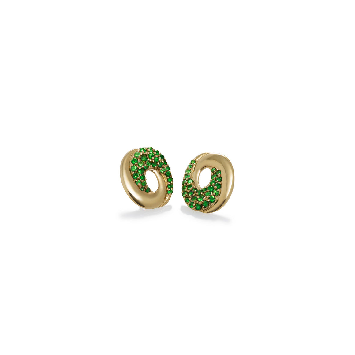 Tsavorite Galaxy Stud Earrings by Martha Seely - Talisman Collection Fine Jewelers