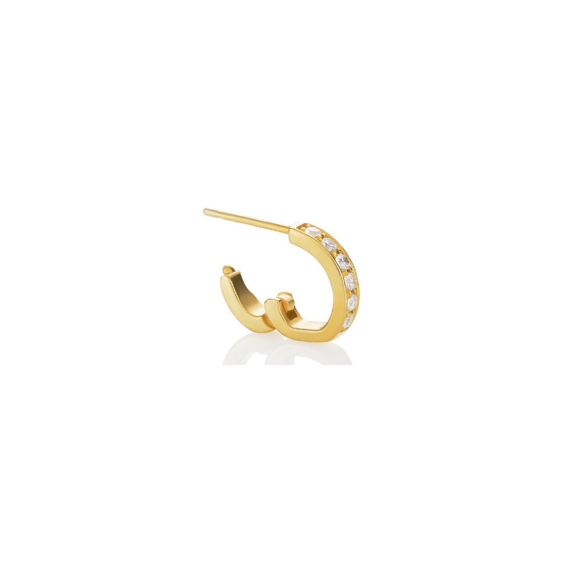Swirl Huggie Earrings by Martha Seely - Talisman Collection Fine Jewelers