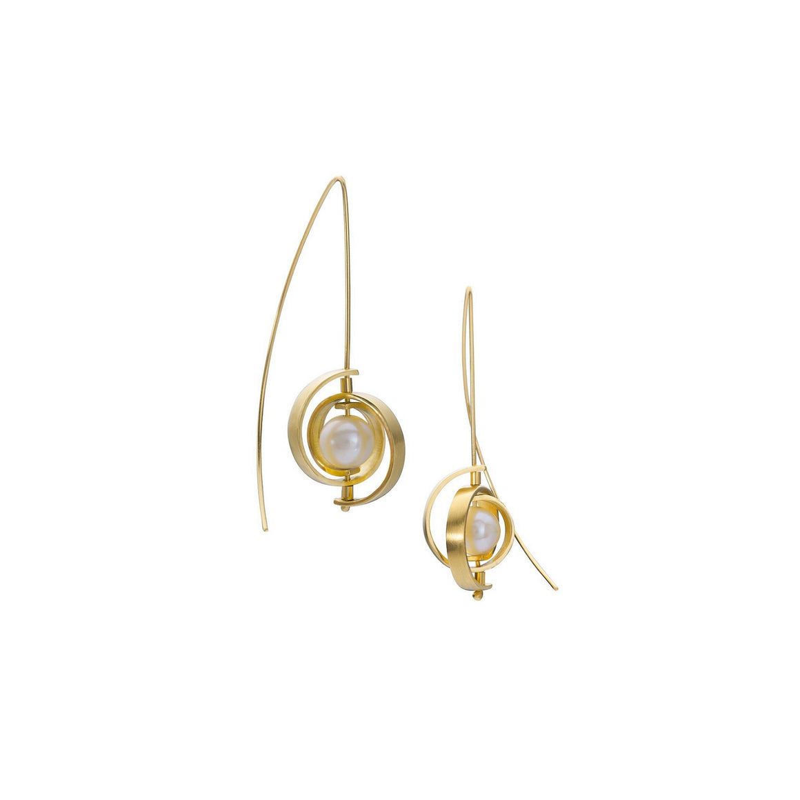 Medium Gold Spiral Earrings by Martha Seely