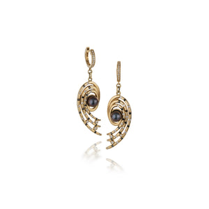 Open Spiral Earrings by Martha Seely - Talisman Collection Fine Jewelers